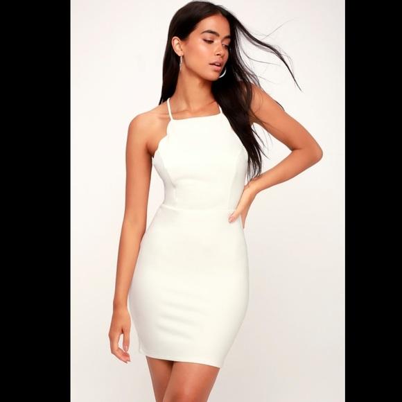 Lush Dresses & Skirts - Lulus white bodycon dress
